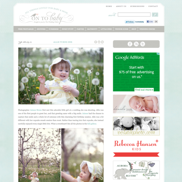 Allis featured at On to Baby