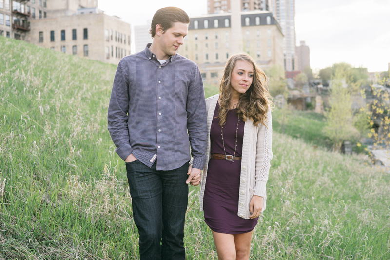 Jen + Leif | Stone Arch Bridge Engagement Photography