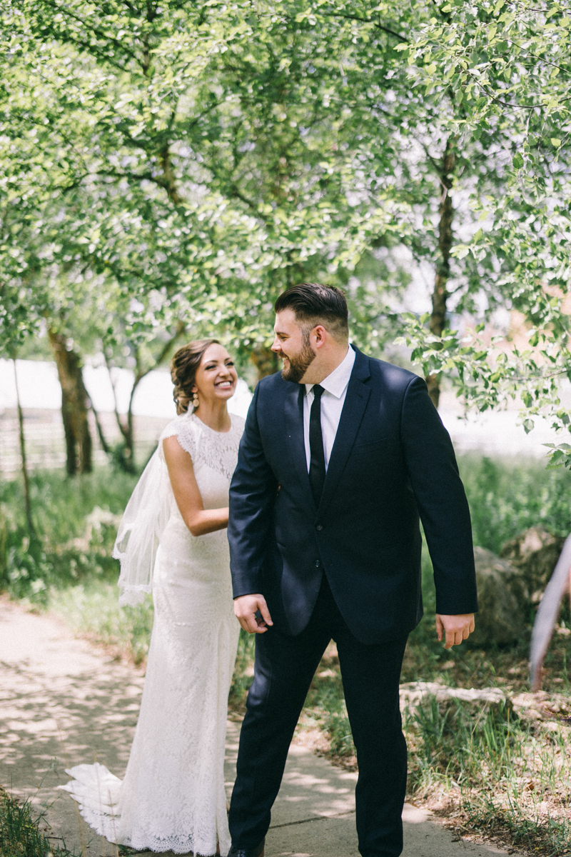 Bride and Groom first look in St Paul Minnesota