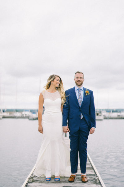 Maine Fine Art Wedding Photographer photographing waterfront wedding