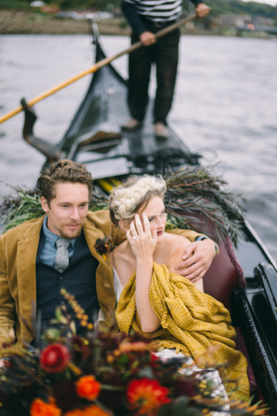 Maine Fine Art Wedding Photographer photographing gondola elopement
