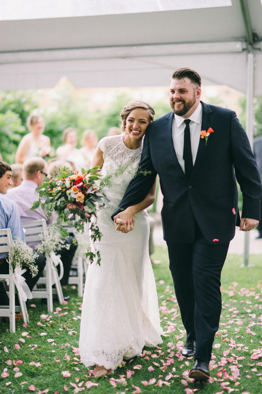 Couple at iowa wedding
