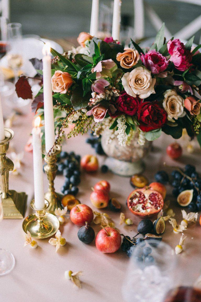 Maine Fine Art Wedding Photographer photographing Danish Still Life inspired wedding