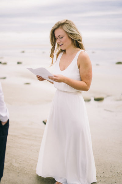 Wedding Vows on Maine Beach