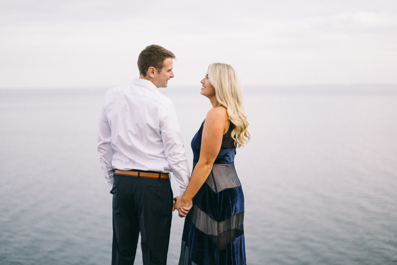 Cliff Waterfront Fine Art Engagement Session