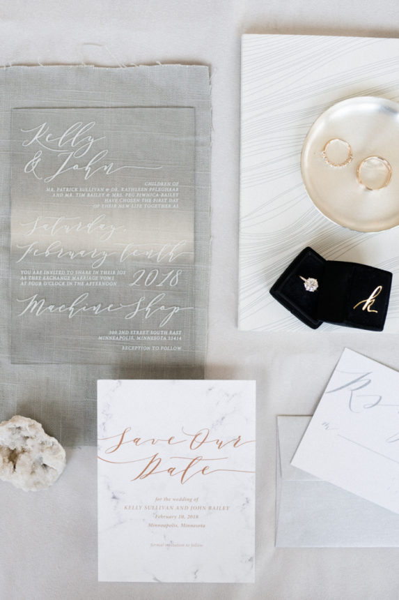 modern winter wedding