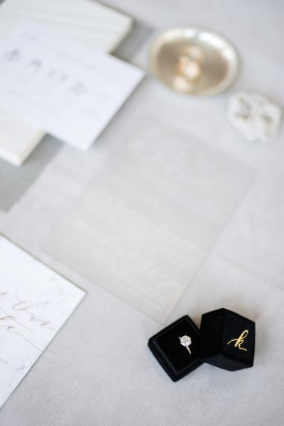 modern warehouse winter wedding