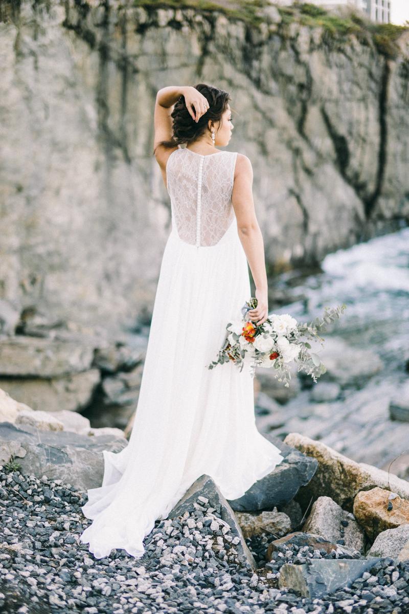 Maine Cliff Wedding | Rocky Coast Wedding in York Maine