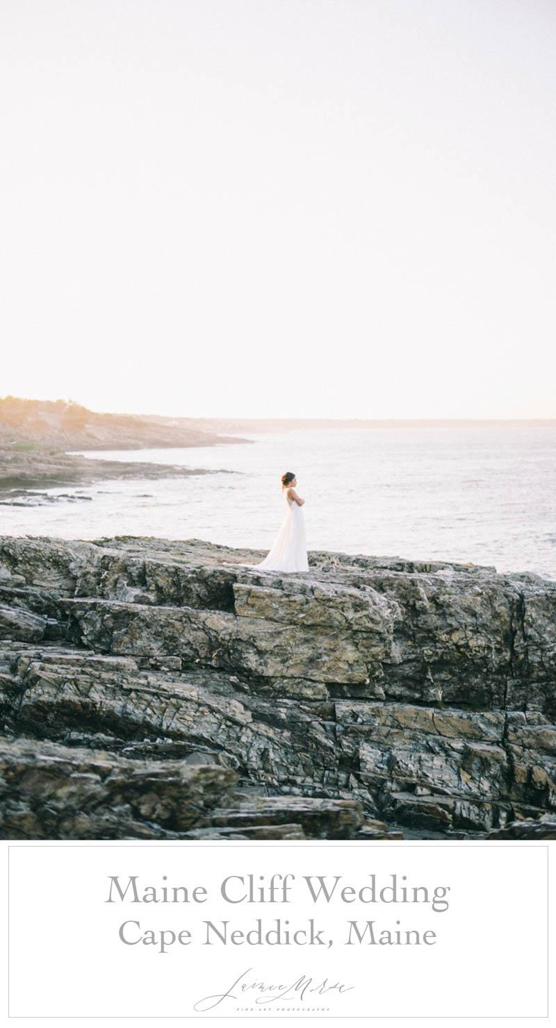Maine Cliff Wedding Cape Neddick Maine