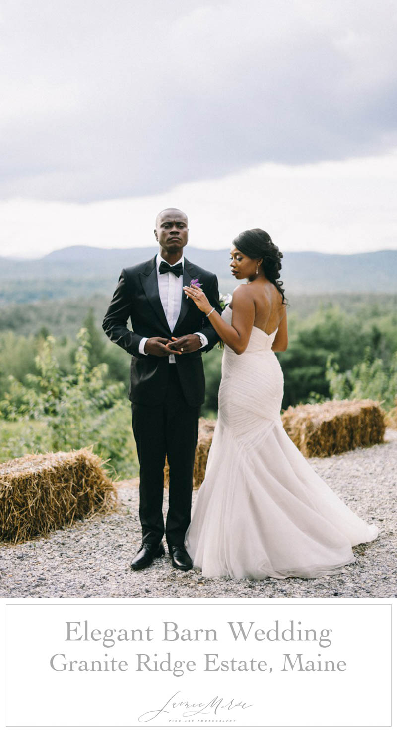 elegant barn wedding granite ridge estate maine
