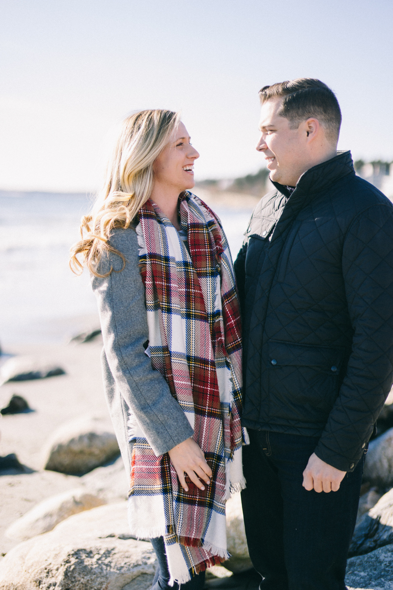 Higgins Beach engagement session scarborough maine