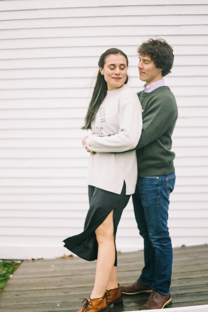 cape elizabeth engagement photos maine