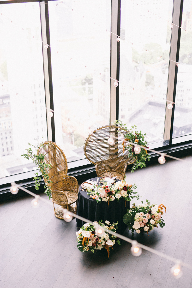 Modern Boston Wedding The state room